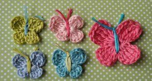 3 Minute Crochet Butterfly Pattern | AllFreeCrochet.com