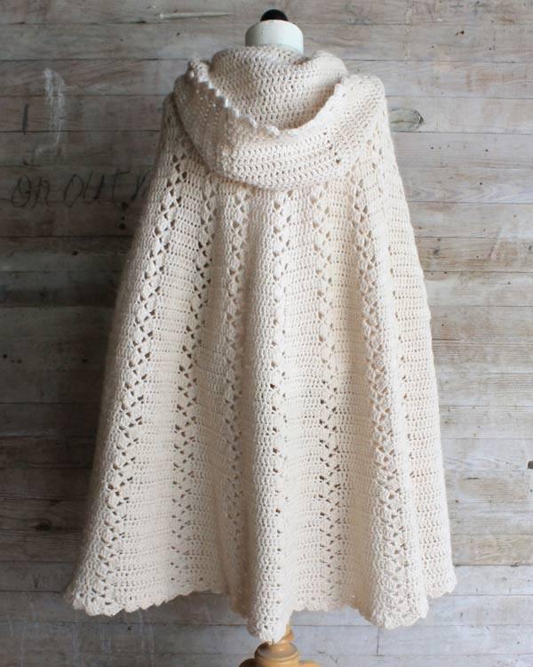 Long Hooded Cape Crochet Pattern u2013 Maggie's Crochet