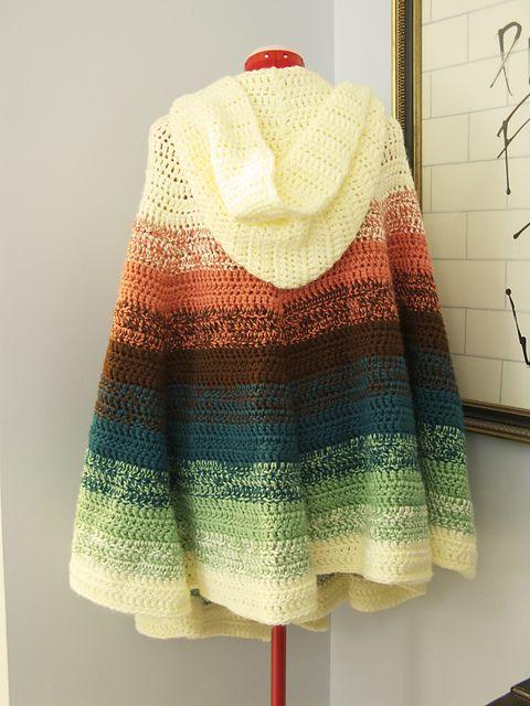 Crochet Chalet's Hooded Ruffled Shawl - Pattern Downloaded | Crochet