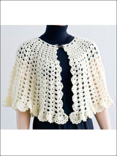 Crochet - Accessory Patterns - Poncho, Shrug & Wrap Patterns - Easy