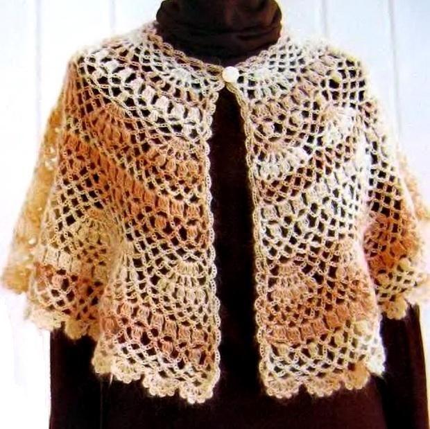 Crochet Shawls: Outerwear Cape For Women - Crochet Cape Pattern