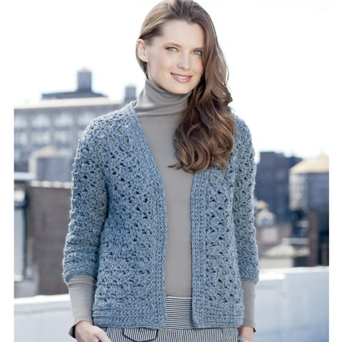 3/4 Sleeve Cardigan Crochet Pattern