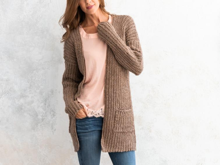 Everyday Cardigan Crochet Kit | Bluprint