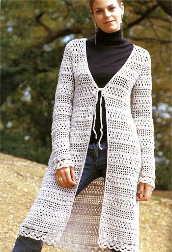 Easy crochet cardigan. Pattern! If you go to the following page on