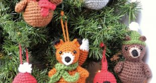 Crochet Christmas Ornament Pattern Woodland Animal Crochet | Etsy