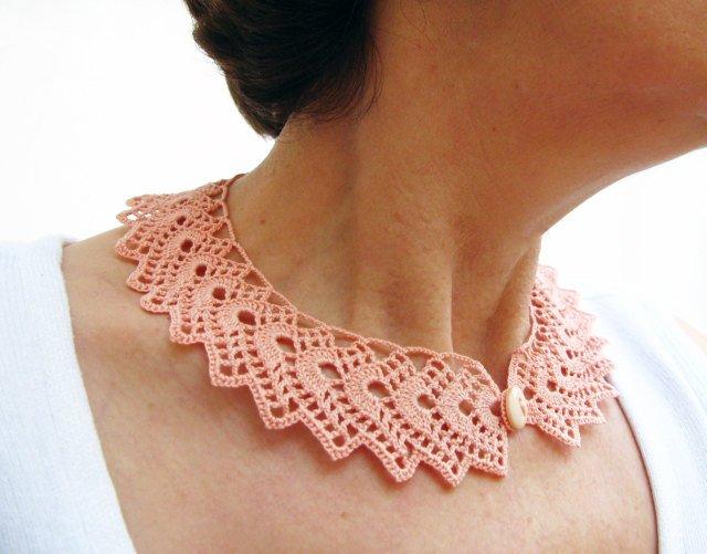 PDF Tutorial Crochet Peter Pan Collar/ Necklace Pattern | Etsy