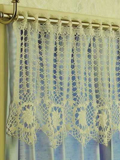 star border crochet curtain - free pattern | Crochet Curtain
