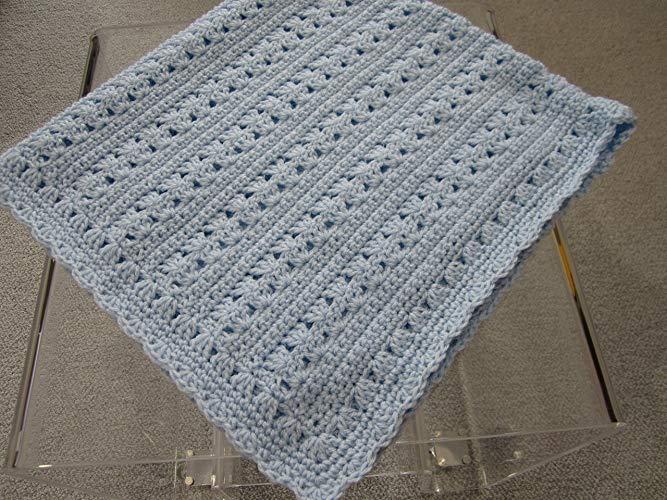 Amazon.com: New Hand Crochet Baby Boy Blanket by Kim's Crochet