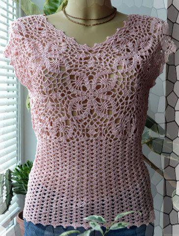 Crochet Designs Free: Blouse crochet pattern for women with