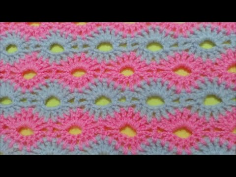 How to Crochet Road of flowers Stitch / Crochet Patterns # 2 - YouTube