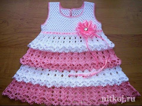 Crochet Patterns| for |Crochet Baby Dress| 825 - YouTube