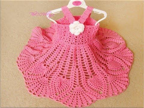 Knitting Patterns Clothes BABY CROCHET FROCKS NEW LATEST BEAUTIFUL