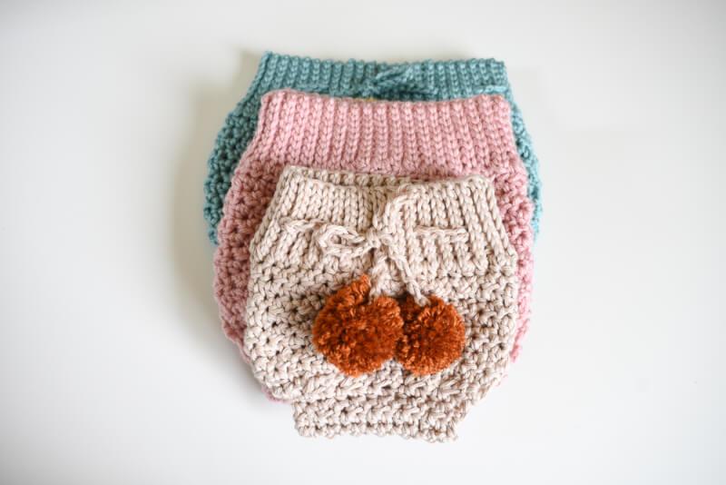 A Modern High Waisted Crochet Diaper Cover Pattern