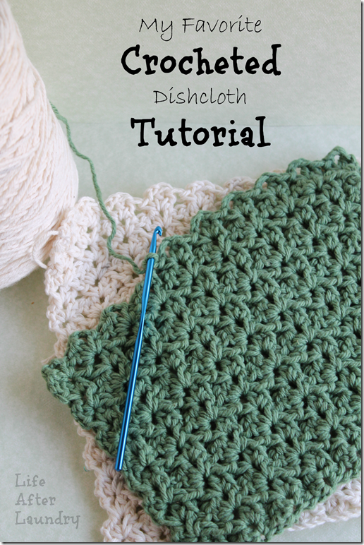 My Favorite Crocheted Dishcloth Tutorial | DIY - Crochet Projects