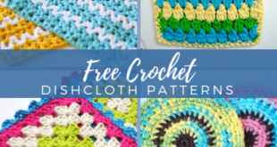 47 Free Crochet Dishcloth Patterns | AllFreeCrochet.com
