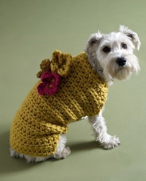Free Crochet Dog Sweater Pattern National Dog Day | DIY | Pinterest
