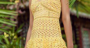 Cute Yellow Dress - Crochet Lace Dress - Ruffle Dress