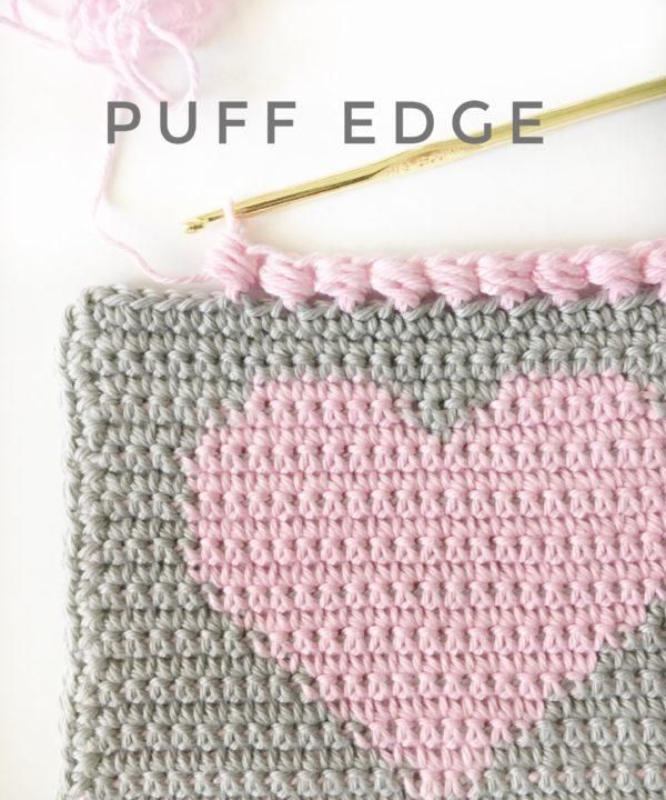 Crochet Puff Edge Stitch | Daisy Farm Crafts