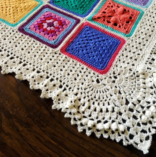 Vibrantly Vintage Crochet Edging Pattern