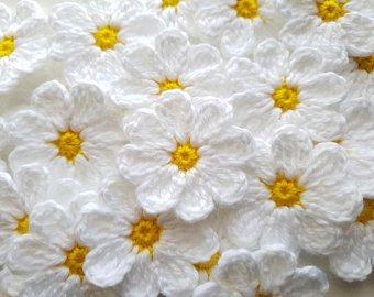 Crochet flowers | Etsy
