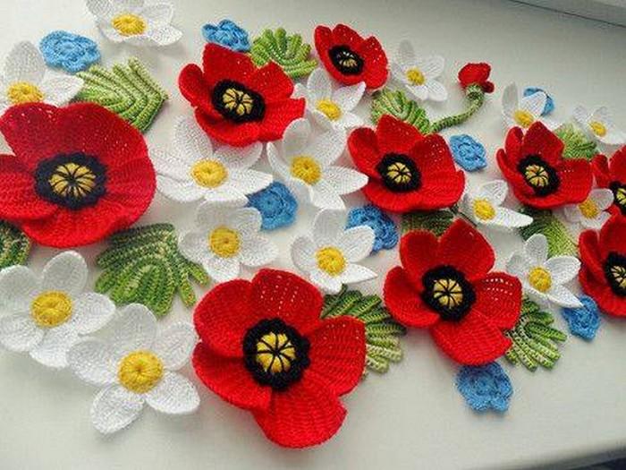 20 Stunning Crocheted Flowers u2013 1001 Crochet