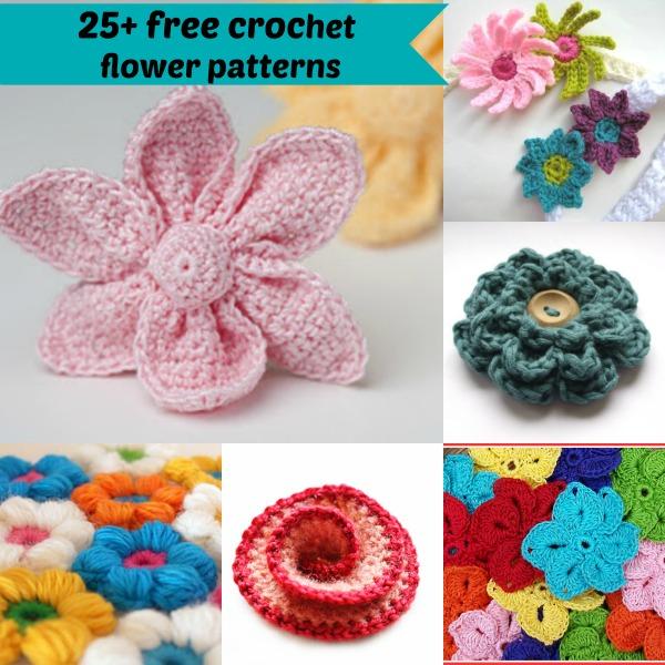 25+ free easy crochet flowers patterns