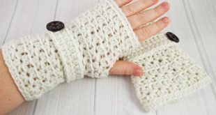 Crochet Star Stitch Fingerless Gloves | AllFreeCrochet.com