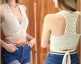 Crochet halter top | Etsy