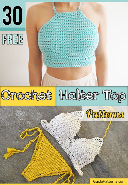 30 Free Crochet Halter Top Patterns | Guide Patterns
