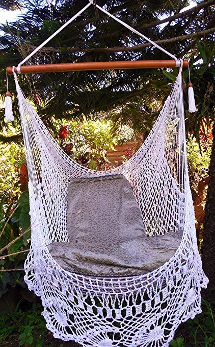 Amazon.com : Wonderful Crochet Hammock Chair Swing 100% Handmade