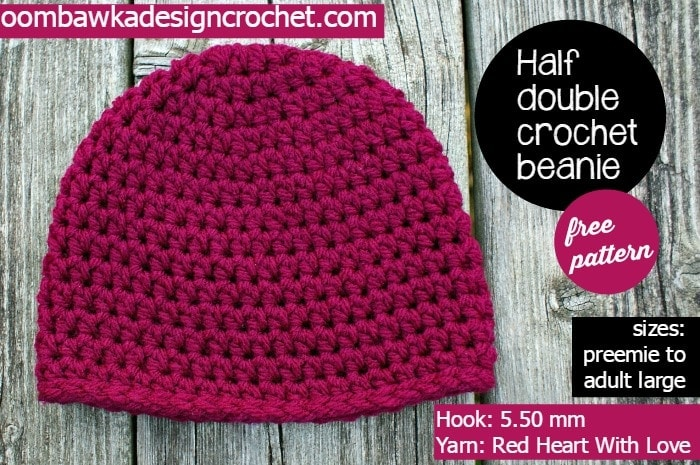 Simple Half Double Crochet Basic Beanie - My Most Requested Hat