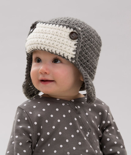 Little Lindy's Aviator Hat | Red Heart