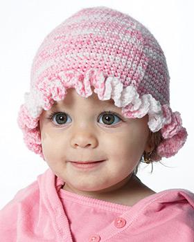 Baby Ruffle Hat Crochet Pattern   FaveCrafts.com