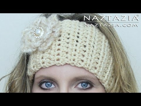 DIY Learn How to Crochet Easy Headband Wrap with Flower (Hair Head