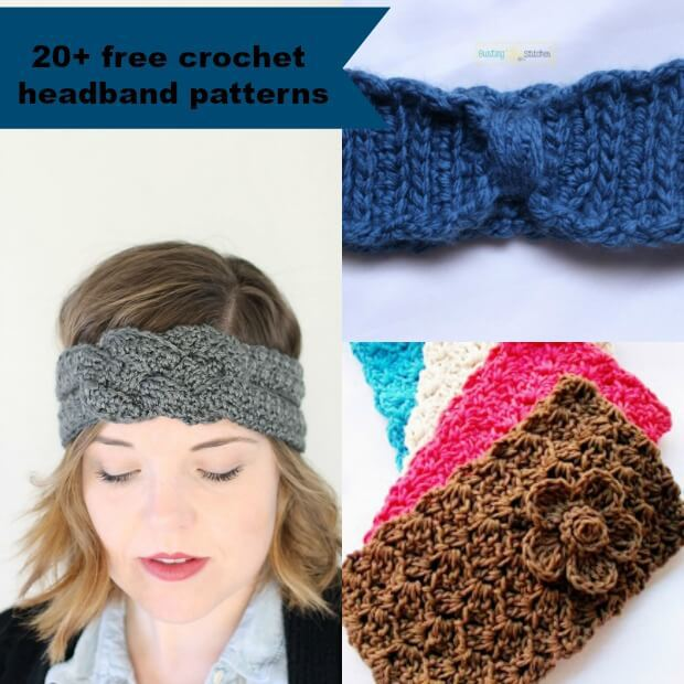 Simple and free crochet headband patterns - Crochet and Knitting