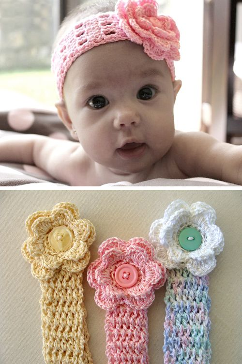 Crochet For Children: Baby Head Band - Tutorial | Baby projects