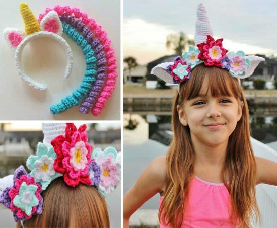 Crochet Unicorn Headband Pattern