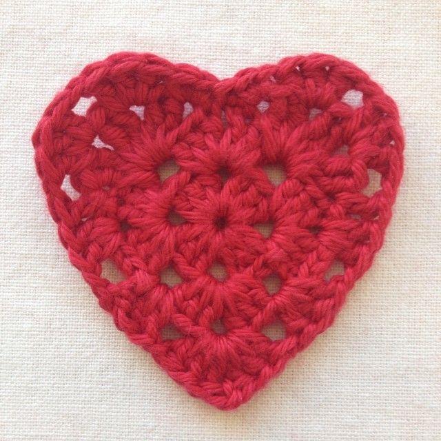 Granny Square Heart Tutorial! | Crochet | Pinterest | Crochet