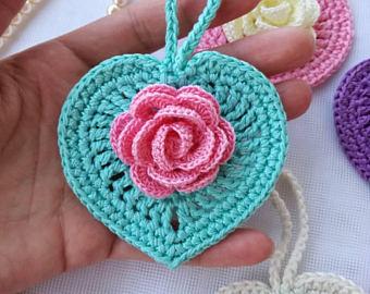 Crochet heart | Etsy
