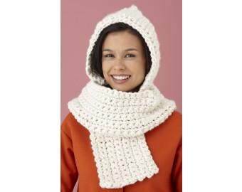 Cozy Crochet Hooded Scarf | Lion Brand Yarn