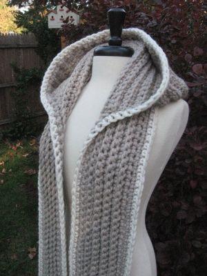 Nordic Hooded Scarf by nutsaboutknitting by sweet.dreams | crochet