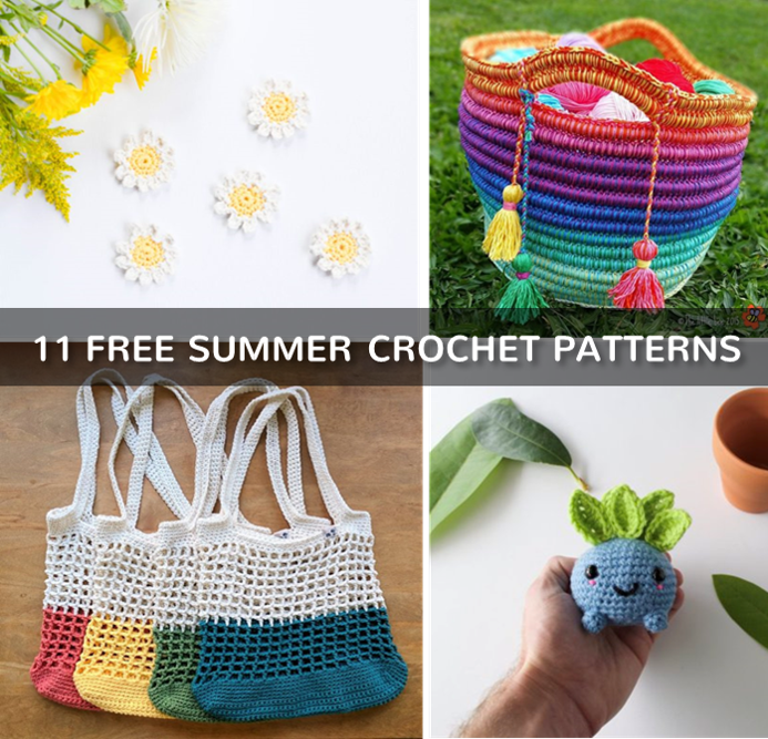 11 Free Crochet Patterns for Summer 2018 - kaijumaddy