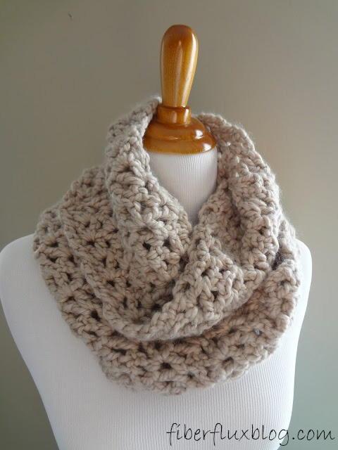 Classic Crochet Infinity Scarf | AllFreeCrochet.com