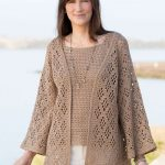 Dress up in style: crochet jacket
