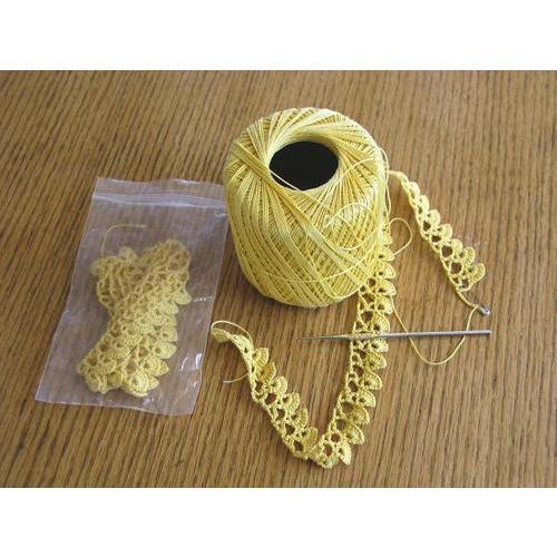Yellow Crochet Lace, Rs 5 /meter, M/s Puthavi   ID: 16004229573
