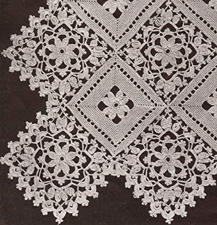 Amazon.com: Vintage Crochet PATTERN to make - Block Lace Motif