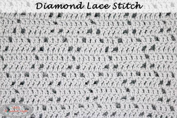 How to Crochet the Diamond Lace Stitch Pattern - Detailed Tutorial