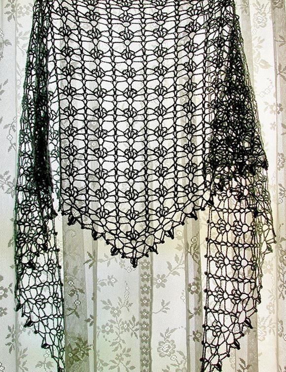 Crochet Lace Shawl For Summer - Pattern u2026 | Crochet | Pinteu2026