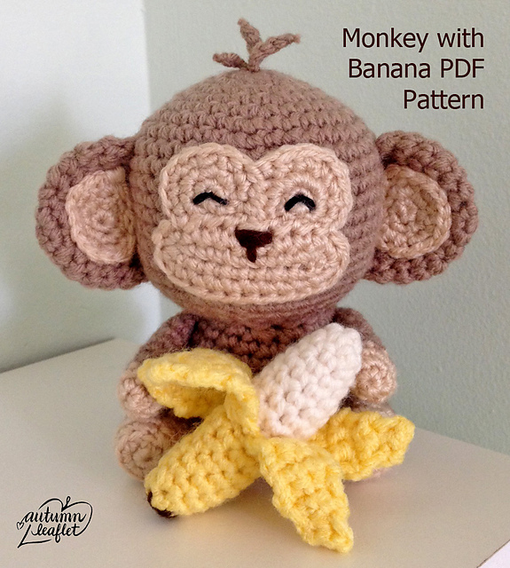 Ravelry: Monkey Amigurumi pattern by Autumn Leaflet