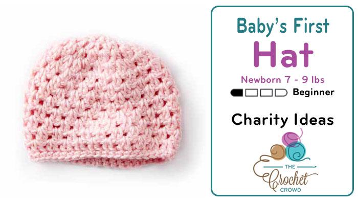 Crochet Baby's First Newborn Hat 7 - 9 lbs + Tutorial | The Crochet